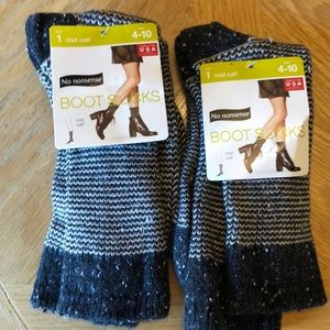 (2) No nonsense boot socks size 4-10 NWT